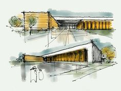 Image of: architecture sketch wallpaper calto inspiration ideas architectural buildings sketches and sketch watercolor an Architecture Concept Drawings, Architecture Sketchbook, Landscape Architecture, Architecture Design, Google Architecture, Classical Architecture, Conceptual Sketches, Building Sketch, Perspective Drawing