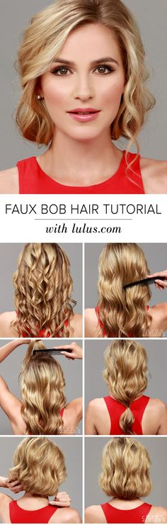 Are you loving the bob trend, but hate the thought of parting with your long tresses? Give our Faux Bob Hair Tutorial a try and you'll be amazed!