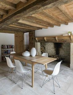 The dining room in a Cotswolds guest cottage designed and owned by Richard Found, of Found Associates.