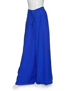georgie wide leg tie waist silk pants - Spring/Summer 2012 - I'd prefer them in another color, myself