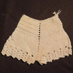 Vintage Crocheted Doll Bloomers from virtu-doll on Ruby Lane Vintage Crochet, Knit Crochet, Doll Wardrobe, Barbie Furniture, Halter Bikini, Ruby Lane, Lace Shorts, Doll Clothes, Crochet Patterns