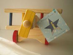 Festa Pequeno Príncipe - centro de mesa e lembrancinha avião de madeira