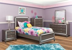 Lacks | Uptown 4-Pc Twin Kids Bedroom Set in White | Kid Spaces ...