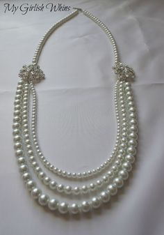 Elegant Pearl Wedding Necklace DIY with David Tutera Bridal | My Girlish Whims