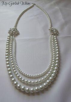 Elegant Pearl Wedding Necklace DIY with David Tutera Bridal | My Girlish Whims