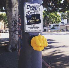 """Walkbump"": fist bump to cross by Alfredo & Alberto – Los Angeles Fist Bump, Music Film, Italian Artist, Photo Projects, Street Artists, Bored Panda, Interactive Design, Science And Nature, Community Art"
