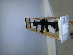 Explanations on making your own hidden gun storage place. Places to hide the gun when you live alone and when you have children. Concealed gun storage you can buy.