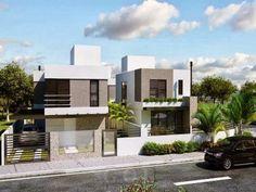 Decor Salteado - Blog de Decoração e Arquitetura : Fachadas de Casas Modernas – Casas sem telhado #fachadasminimalistascantera