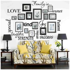 Vinyl Lettering FAMILY IS... sticky wall quote words on Etsy, Sold