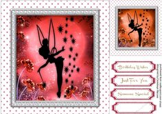 Tinkers Sprinkles and Sparkles 4 by Ceredwyn Macrae A lovely card in red with Tinker's Sprinkles and Sparkles has 3 greeting tags and a…