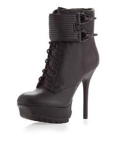 X202D Sam Edelman Vixen Stiletto Platform Bootie, Black