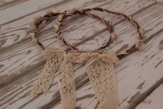 στεφανα γαμου χειροποίητα τιμες οικονομικα ρουστικ vintage ξυλινα ρομαντικα Wedding Decorations, Wedding Ideas, Party Time, Crochet Necklace, Boho, Flowers, Vintage, Jewelry, Weddings