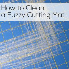 Your cutting mat starting to look more like a fuzzy carpet than a cutting mat? Check out @ShinyHappyWorld's trick to cleaning a cutting mat in her newest blog post here (It's seriously genius).