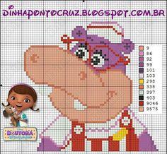 Doc McStuffins x-stitch hippo