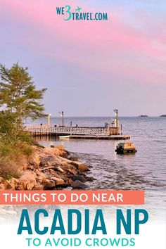 Escape the crowds in Bar Harbor and Acadia National Park and experience the real Downeast Maine instead. Acadia National Park, National Parks, Mount Desert Island, New England Travel, Outdoor School, Picnic Area, Boat Tours, Fishing Villages, Beach Day