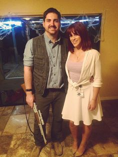 Jurassic World. Claire Dearing and Owen. Halloween 2015  sc 1 st  Pinterest & Dress up as Claire and Owen from Jurassic World! Full guides are at ...