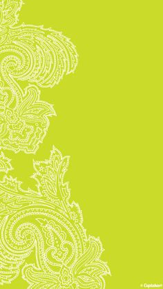 Yellow lime paisley iphone background phone wallpaper lockscreen