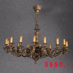 Antik - große Deckenlampe Bronze Messing  110 cm Durchmesser 2250,-€