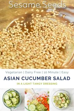 10 Minute Asian Cucumber Salad Recipe made with crunchy cucumber onion rice wine vinegar and a few secret ingredients! An easy Cucumber Salad that's guaranteed to be a hit. Light refreshing and super flavorful - makes the perfect side dish or condiment. Cucumber Salad Vinegar, Asian Cucumber Salad, Cucumber Recipes, Diet Salad Recipes, Vegetarian Recipes, Cooking Recipes, Healthy Recipes, Easy Vegetable Recipes, Fast Recipes