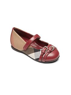 Burberry - Toddler's Avonwick Leather & Canvas Ballet Flats