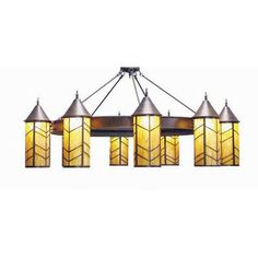 2nd Ave Design Chevron 10 Light Drum Chandelier Finish: French Bronze