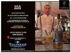 Sea Date: Receta presentada por Fabio Brusco para la competición de coctelería #WorldClass2015 con Talisker Scotch Whisky. Podrás probarla en Muelle de Poniente, 6, Alicante