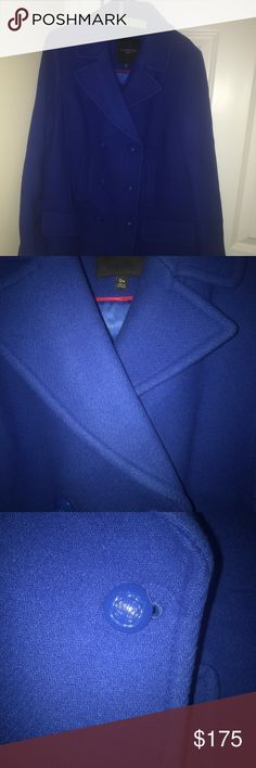 TALBOTS blue Wool winter jacket Vibrant blue winter wool jacket! Super warm and made in Italy! 😍 this jacket is from their plus size line. Sorry for the bad lighting in the pics. negotiable price! Talbots Jackets & Coats