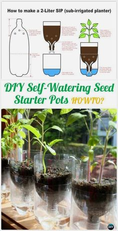 DIY Plastic Bottle Garden Projects & Ideas: Collection of plastic bottle herbs, vegetables and flower gardening, water irrigation and more.  #OrganicGarden