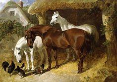 'Horse Team After Work, 1844' by John Frederick Herring, Sr.   (1795-1865)