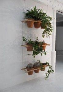 hangende potjes muur