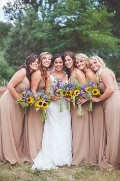 3831469779 Beige chiffon bridesmaid dresses! Such a lovely neutral shade!    alicialuciap