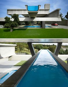 Swimming Pool Design On Rooftop Infinity Pools, Infinity Edge Pool, Floating Architecture, Architecture Design, Swimming Pool Designs, Swimming Pools, Pool Ladder, Rooftop Patio, Unusual Homes