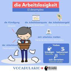 Vocabulario en alemán - el desempleo #Arbeitslosigkeit #AprenderAleman