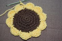 Charm Hour: Crocheted Sunflower Coasters