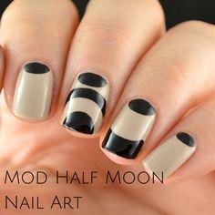 Mod Squad Half Moon Nail Art
