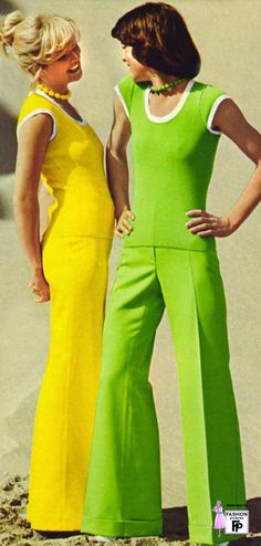 """The 1970s fashion, often called the """"Mc Decade"""", began with a continuation of the mini skirts, bell-bottoms, and the androgynous hippie look..."""
