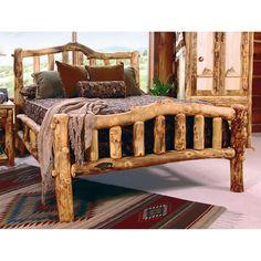 MWSII Snowload II Aspen Heirloom Log Bed - The GoodTimber Fine Log Furnishings