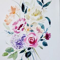 Soft blooms #painting #watercolor #watercolourartist #washyfloral #creativemarket #onmydesktoday Art Diary, Brush Strokes, Twine, Diy Art, Art Inspo, Floral Paintings, Bloom, Journal Art, Newspaper Art