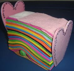 Make your own princess and the pea playset. Easy craft for kids.