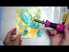 ▶ Shoebox Encaustic Collage -- Part 1:  How to create small encaustic collages with just one heat tool and encaustic wax sticks.