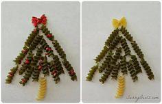 Vánoční stromeček z těstovin