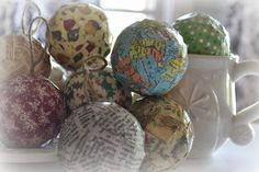 Thrift My House: Mod Podge Christmas Ornaments