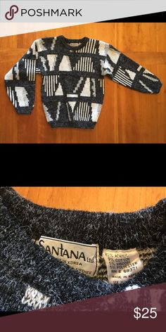 5ef34f16d8a94 Retro Wool Sweater ➰    👁 🗨 style wool sweater 👁 🗨 Tag says Med but it  appears to have shrunken 〰 I m listing it as size XS S 🏁 Super comfy and  ...