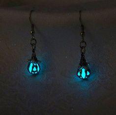 Mermaid's Magic  Ocean Blue Earrings  Glow in the Dark by Clover13