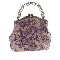 Litluxe Women's Vintage Beaded Sequin Flower Printing Clutch Handbag... ($21) ❤ liked on Polyvore featuring bags, handbags, tote purses, handbags totes, vintage handbags, evening purses and sequin purse