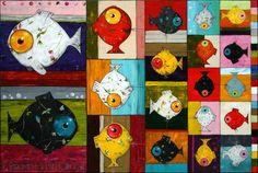Des poissons dans l'art - Nurvero - La vie en classe Art Projects, Sewing Projects, Ocean Crafts, Ecole Art, Arts Ed, Cycling Art, Red Fish, Fish Art, Art Plastique
