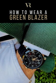 Perfect for a formal event or a casual day out, the blazer is an essential for any man. That said, it's mostly restricted to navy, grey, black or beige colors. There's nothing wrong with a classic but there comes a time in every man's life when he needs to step outside those blazer-based shackles. It's time to go green. Click the image to read more! #vodrich