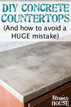 DIY Feather Finish Concrete Countertops and How to Avoid a Huge Mistake | blesserhouse.com - A thorough step-by-step tutorial with useful tips and advice on what not to do. #diycountertops #concretecountertops #blesserhouse #diykitchen