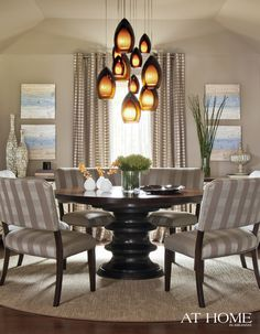 04 dream home lighting on pinterest pendant for Dining room table not centered under light