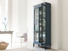 Flummery storage cabinet in Inky Blue Dining Room Storage, Dining Room Hutch, Kitchen Storage, Style At Home, Blue Storage Cabinets, Blue Painted Furniture, Comfy Sofa, Wooden Kitchen, Kitchen Cupboard